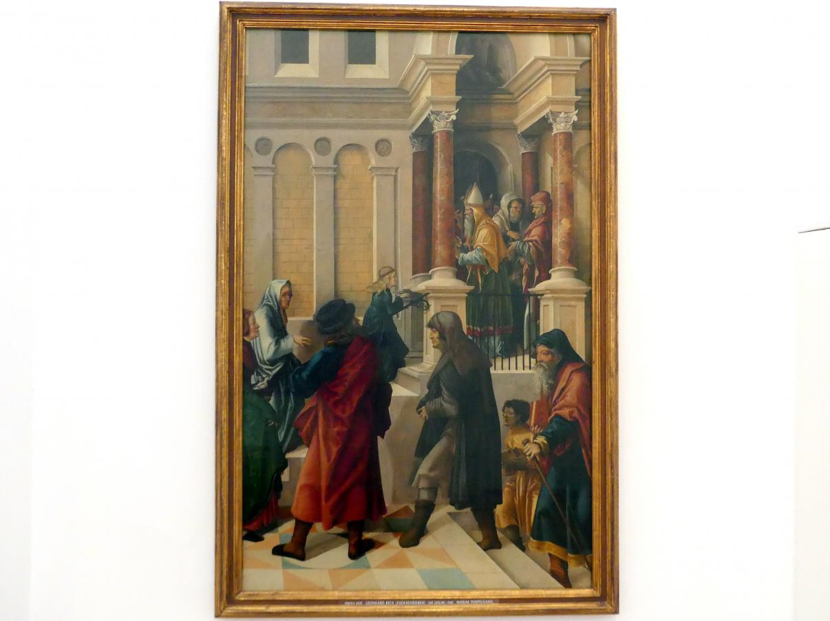 Leonhard Beck: Mariae Tempelgang, Um 1515 - 1518