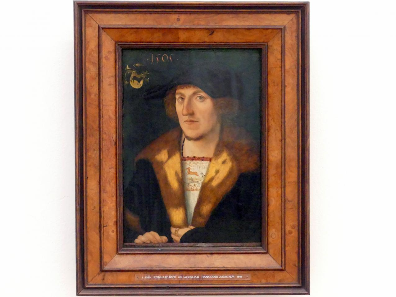 Leonhard Beck: Bildnis Hans oder Lukas Rem, 1505