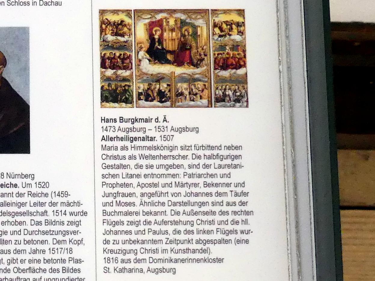 Hans Burgkmair der Ältere: Allerheiligenaltar, 1507, Bild 3/3