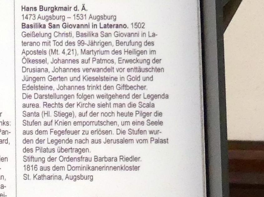 Hans Burgkmair der Ältere: Basilika San Giovanni in Laterano, 1502, Bild 3/3
