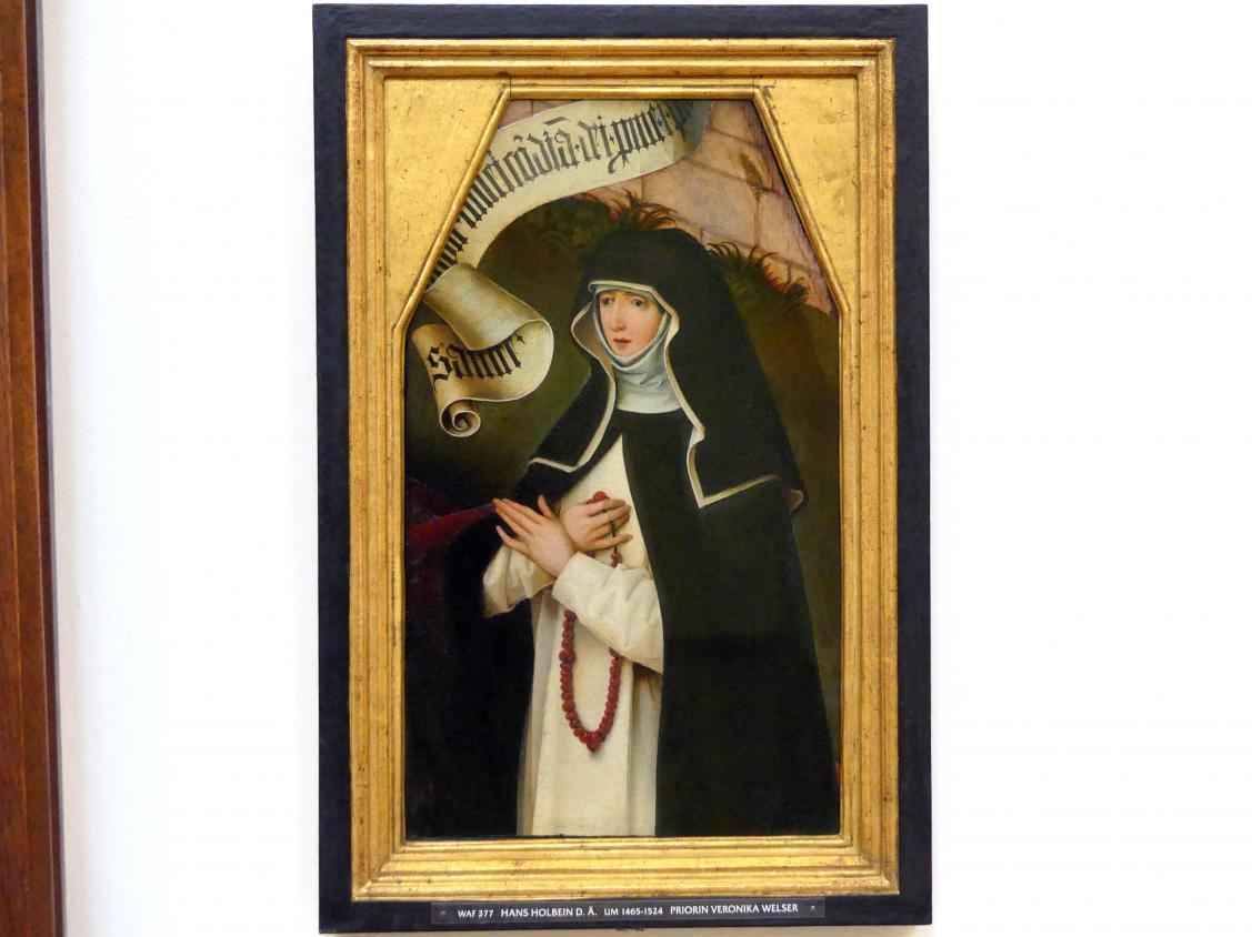 Hans Holbein der Ältere: Bildnis der Priorin Veronika Welser, um 1504