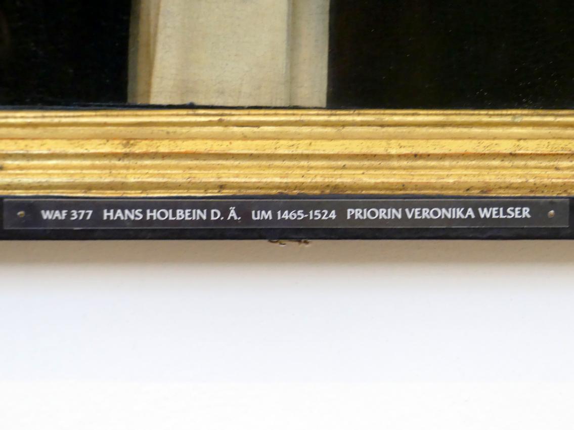 Hans Holbein der Ältere: Bildnis der Priorin Veronika Welser, um 1504, Bild 2/3