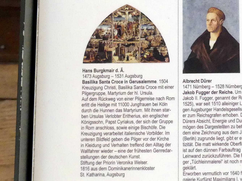 Hans Burgkmair der Ältere: Basilika Santa Croce in Gerusalemme, 1504, Bild 3/3