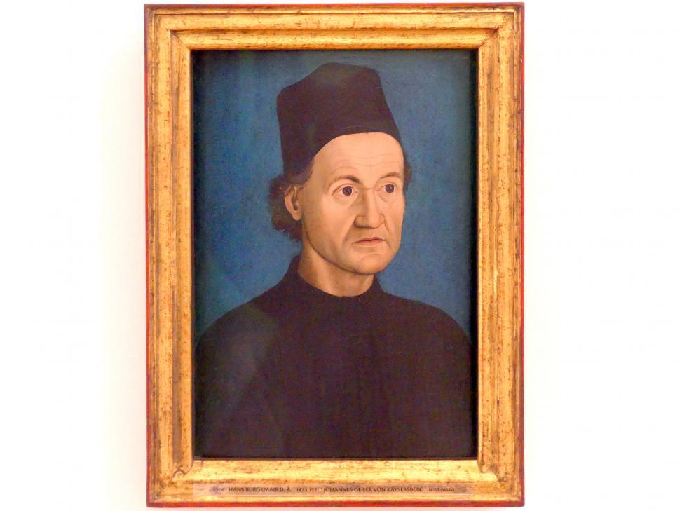Hans Burgkmair der Ältere: Johannes Geiler von Kayersberg, 1490