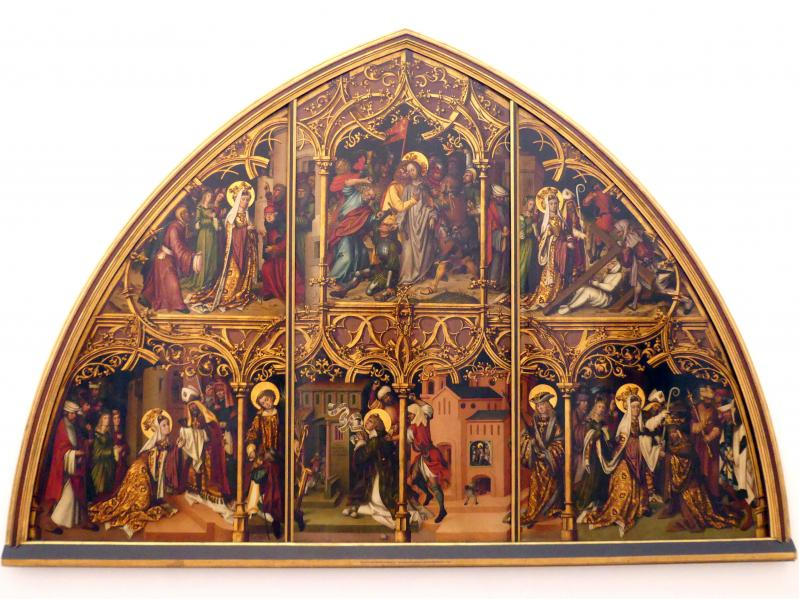 Monogrammist L. F.: Basiliken San Lorenzo und San Sebastiano, 1502