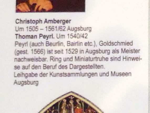 Christoph Amberger: Thoman Peyrl, um 1540 - 1542, Bild 3/3