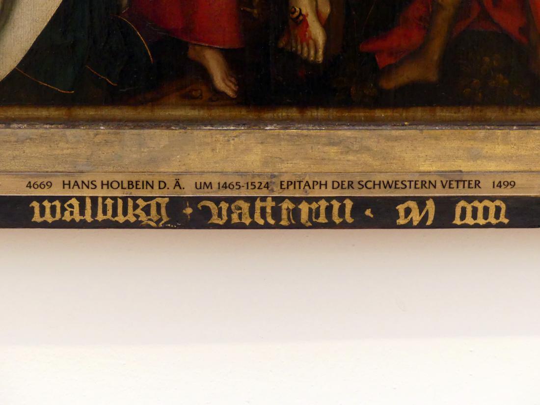 Hans Holbein der Ältere: Epitaph der Schwestern Vetter, 1499