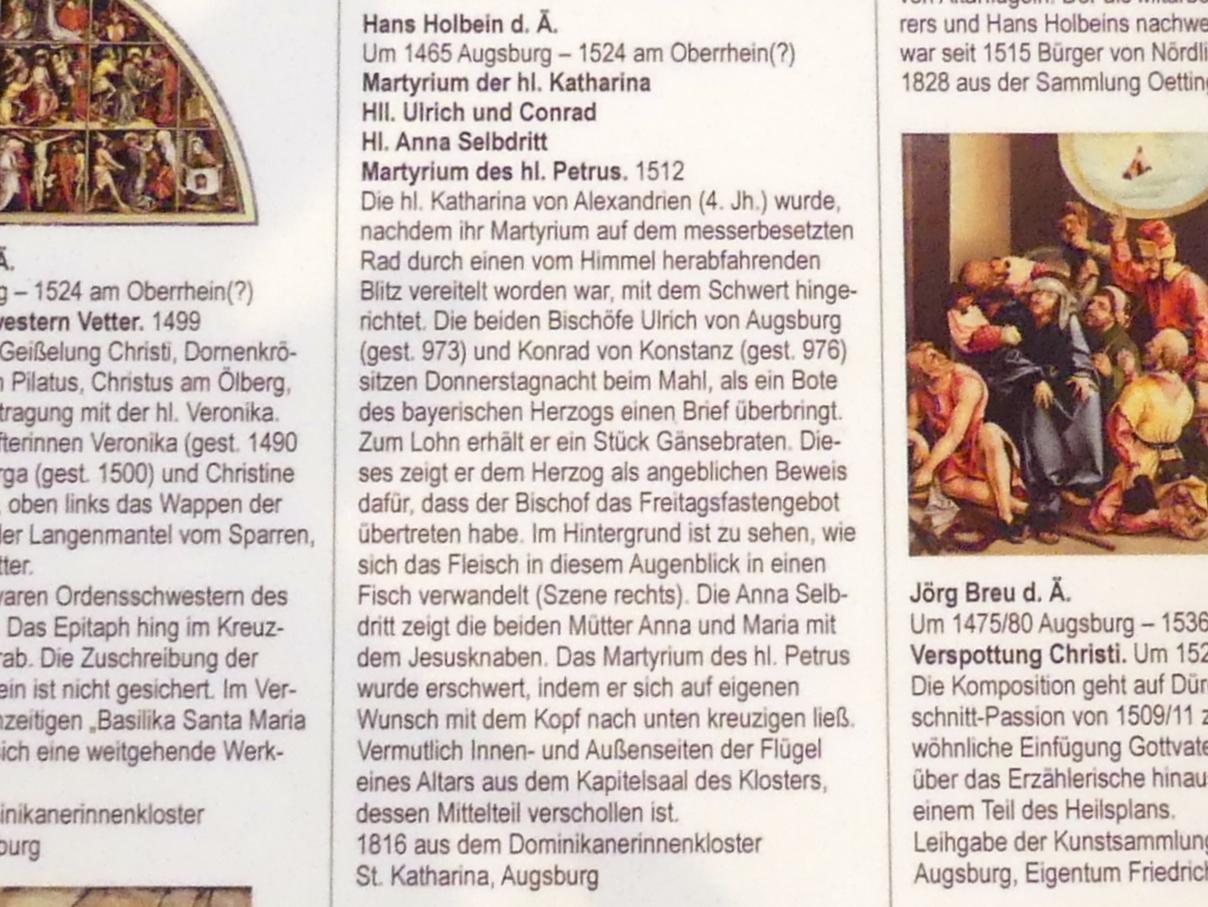 Hans Holbein der Ältere: Martyrium der hl. Katharina, 1512