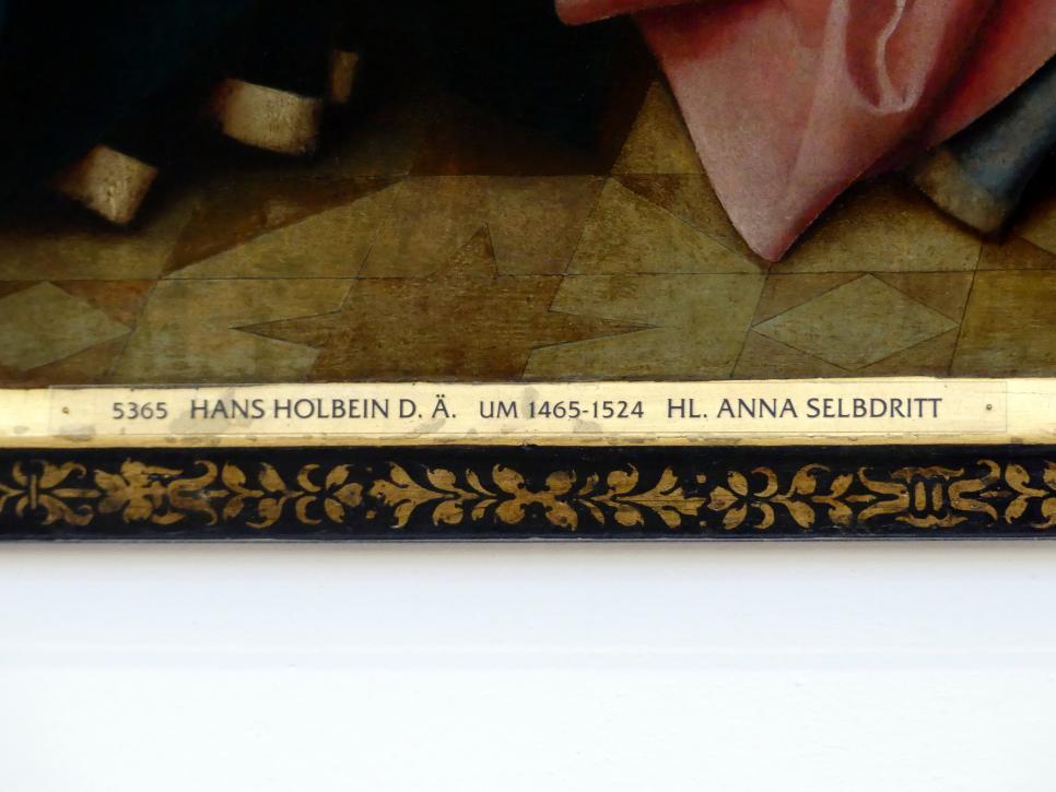 Hans Holbein der Ältere: Hl. Anna Selbdritt, 1512, Bild 2/3