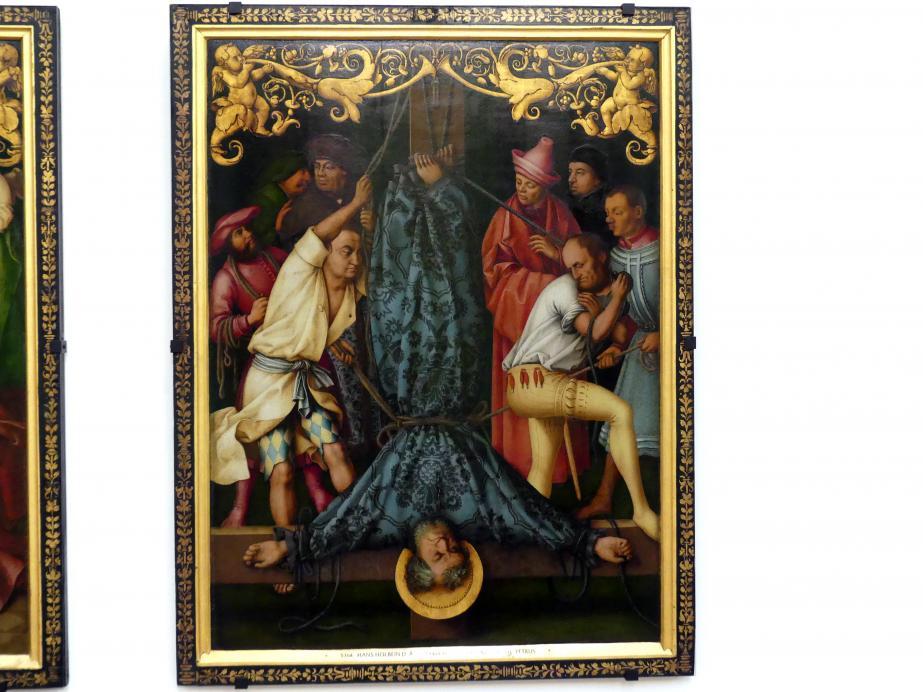 Hans Holbein der Ältere: Martyrium des hl. Petrus, 1512, Bild 1/3