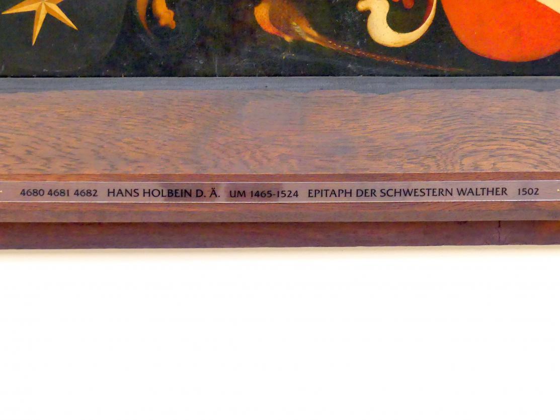 Hans Holbein der Ältere: Epitaph der Schwestern Walther, 1502, Bild 2/3