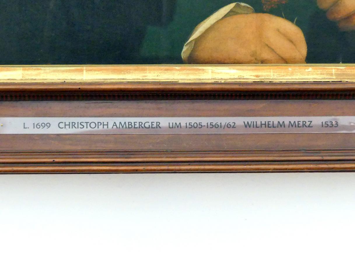 Christoph Amberger: Wilhelm Merz und seine Gemahlin Afra, geb. Rem, 1533, Bild 2/3