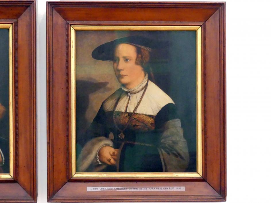 Christoph Amberger: Wilhelm Merz und seine Gemahlin Afra, geb. Rem, 1533