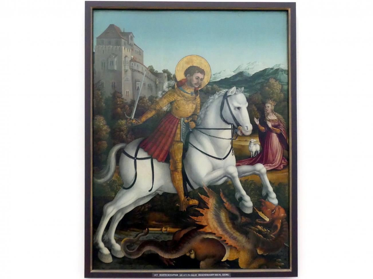 Martin Schaffner: Drachenkampf des hl. Georg, um 1532