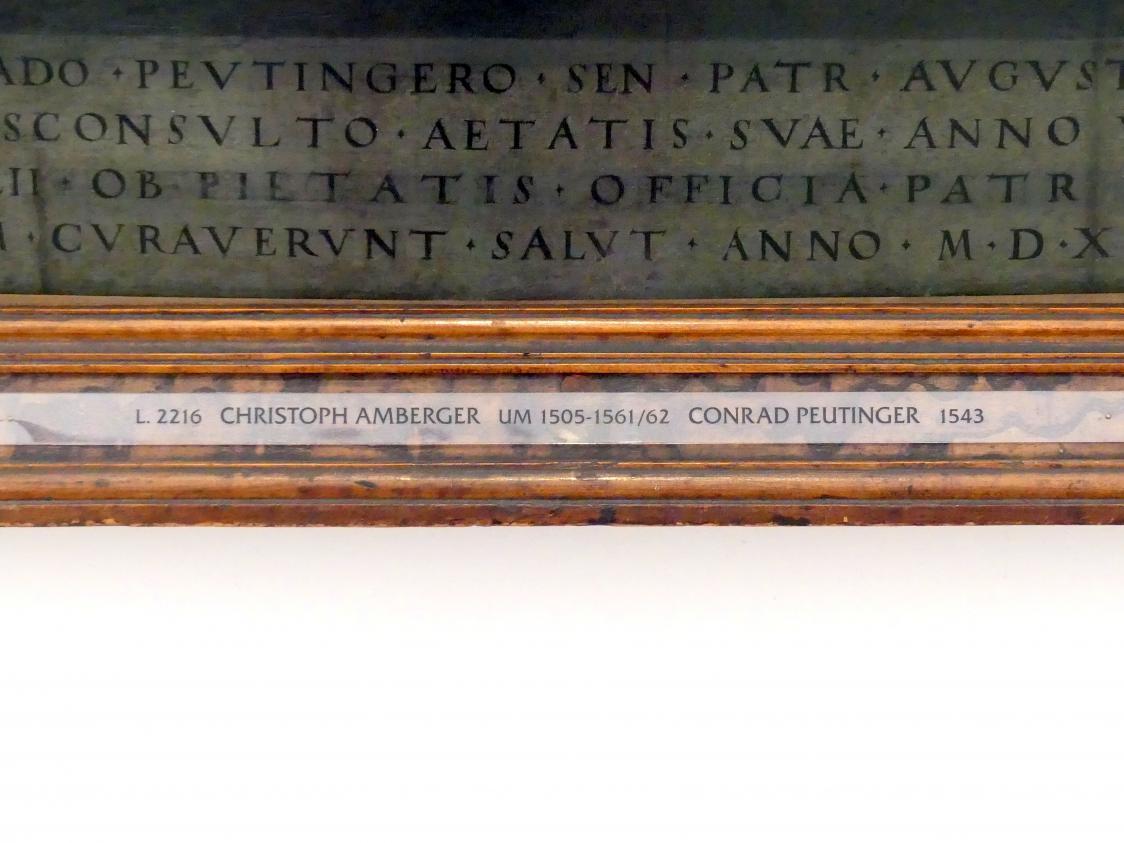 Christoph Amberger: Conrad Peutinger und seine Gemahlin Margarete, geb. Welser, 1543, Bild 3/3