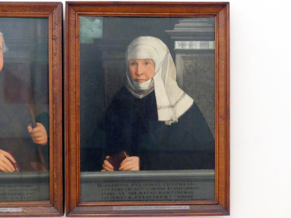 Christoph Amberger: Conrad Peutinger und seine Gemahlin Margarete, geb. Welser, 1543