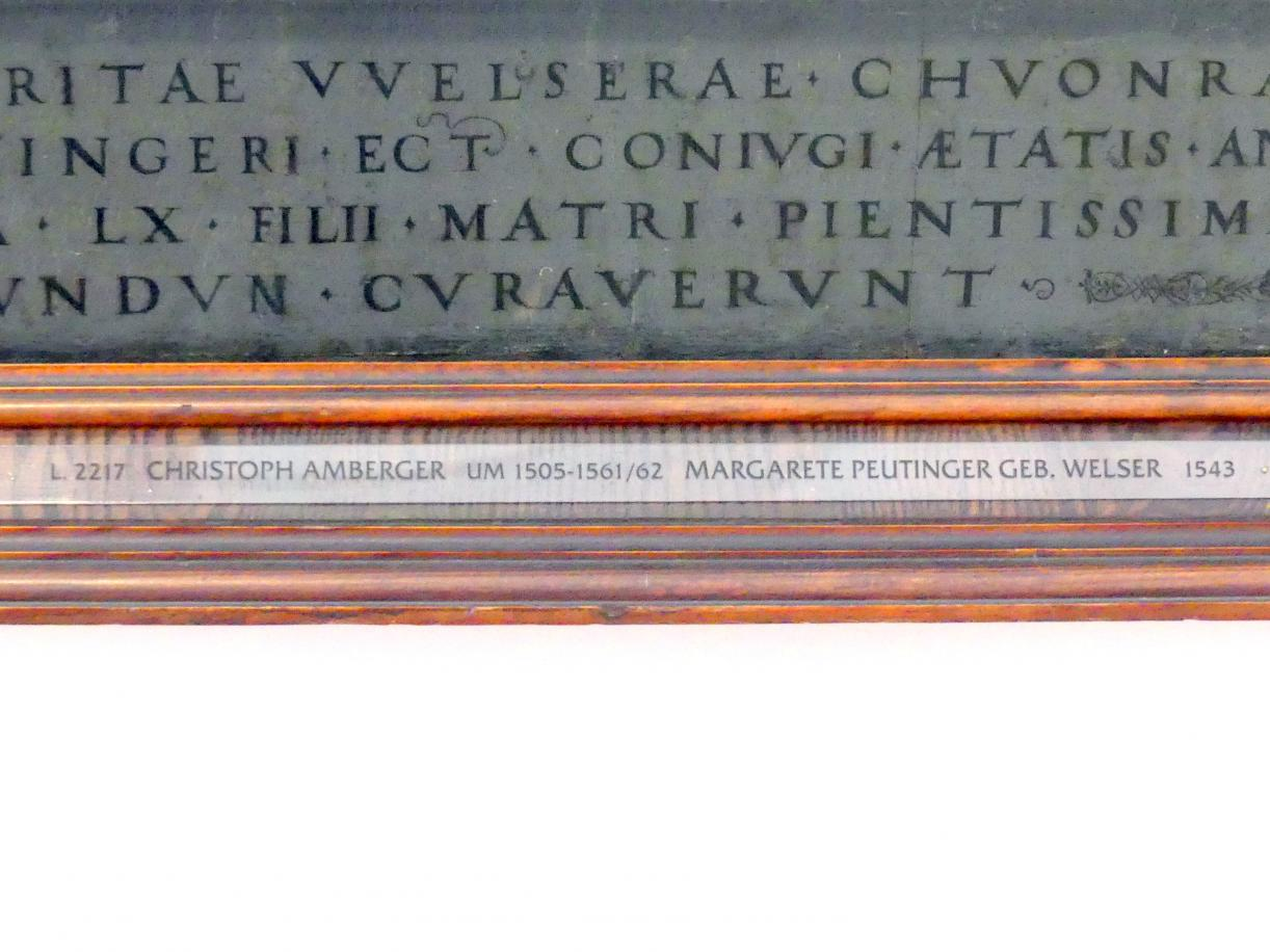 Christoph Amberger: Conrad Peutinger und seine Gemahlin Margarete, geb. Welser, 1543, Bild 2/3