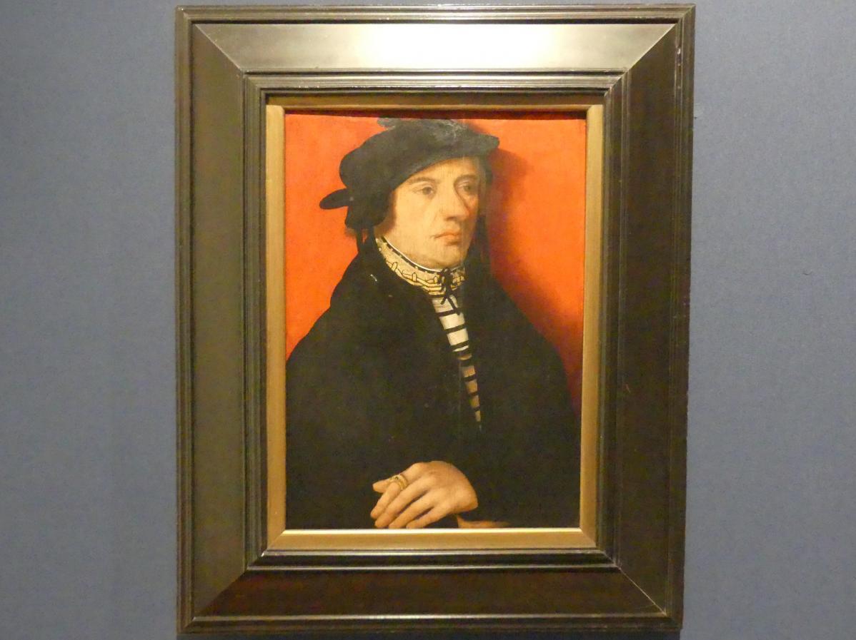 Martin Schaffner (Umkreis): Brustbild eines Mannes vor rotem Hintergrund, Um 1510 - 1515