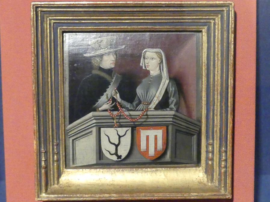 Bildnis des Ehepaares Wilhelm IV. Graf Schenk von Schenkenstein und Agnes Gräfin von Werdenberg-Trochtelfingen, Um 1441 - 1442