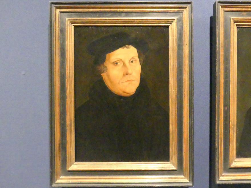 Lucas Cranach der Ältere (Werkstatt): Bildnis Martin Luthers, Nach 1528