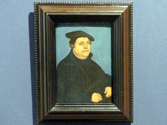 Lucas Cranach der Ältere (Werkstatt): Bildnis Martin Luthers, Nach 1530