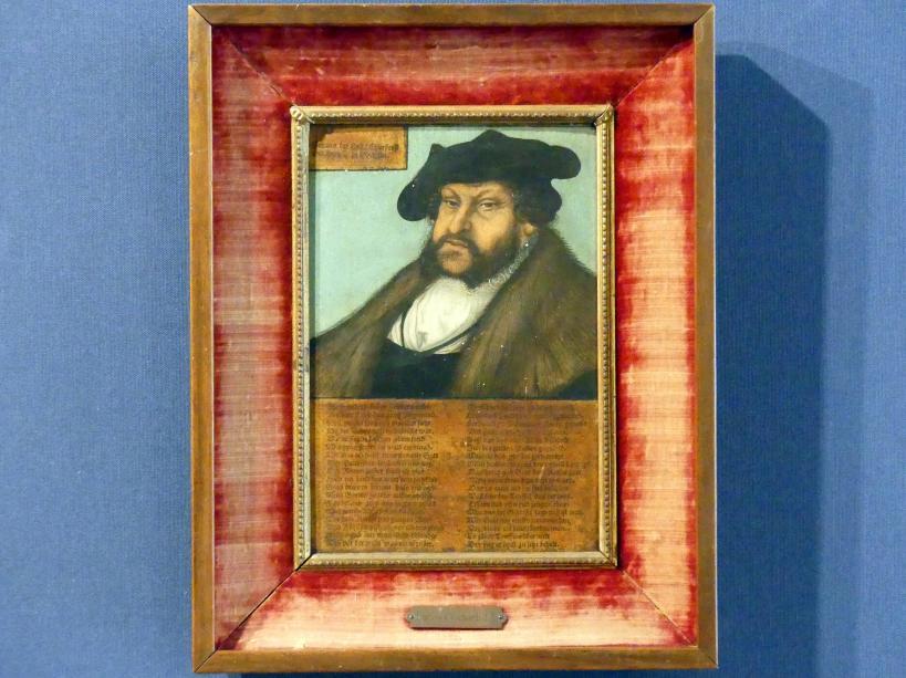 Lucas Cranach der Ältere (Werkstatt): Bildnis des Kurfürsten Johann I. des Beständigen von Sachsen, Um 1533