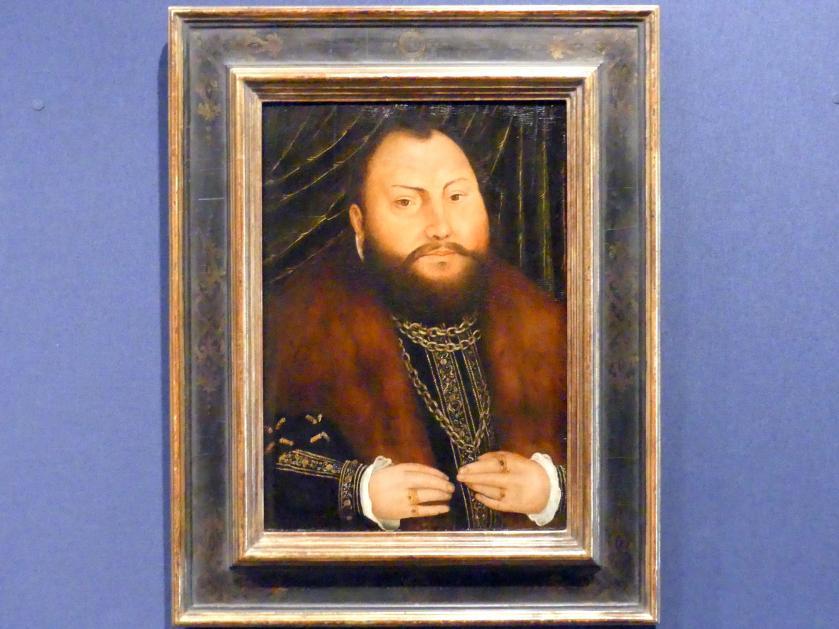 Lucas Cranach der Jüngere: Bildnis Johann Friedrichs des Großmütigen, Kurfürst von Sachsen, Nach 1551