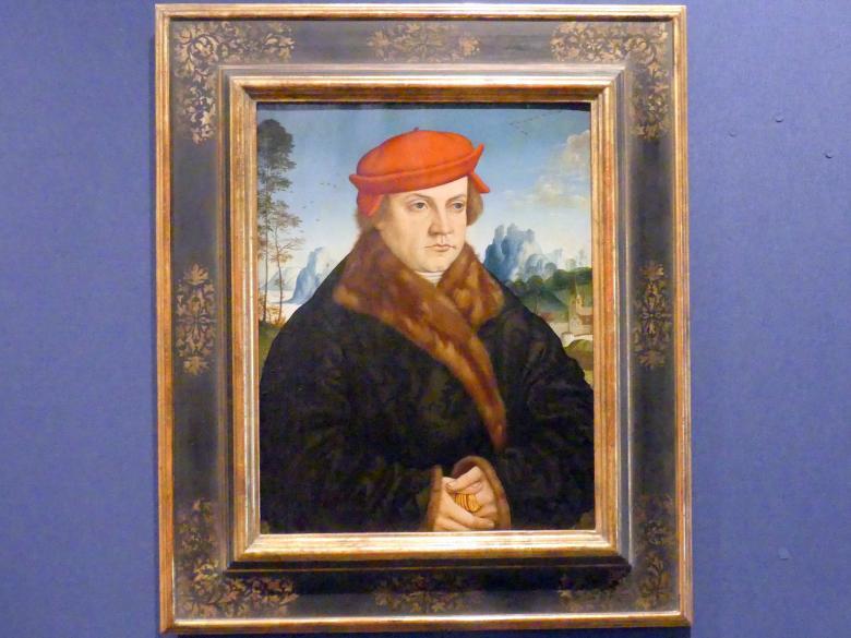Andreas Haider: Bildnis eines Mannes mit rotem Barett, Um 1516 - 1517