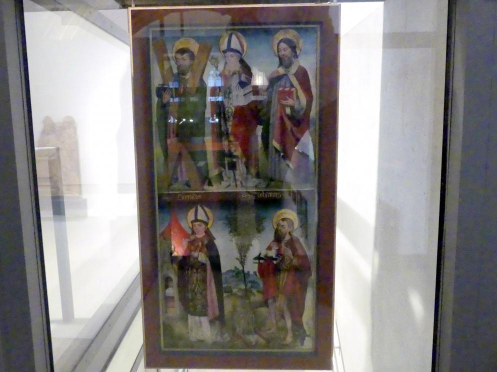 Hans Murer (Werkstatt): Beidseitig bemalte Tafel mit zwölf Heiligen, Um 1460