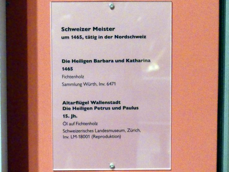Die Heiligen Barbara und Katharina, 1465, Bild 2/2