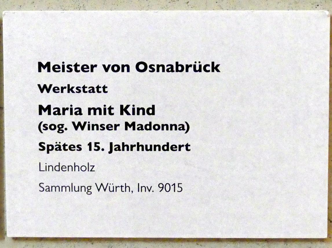 Meister von Osnabrück (Werkstatt): Maria mit Kind (sog. Winser Madonna), Ende 15. Jhd., Bild 5/5