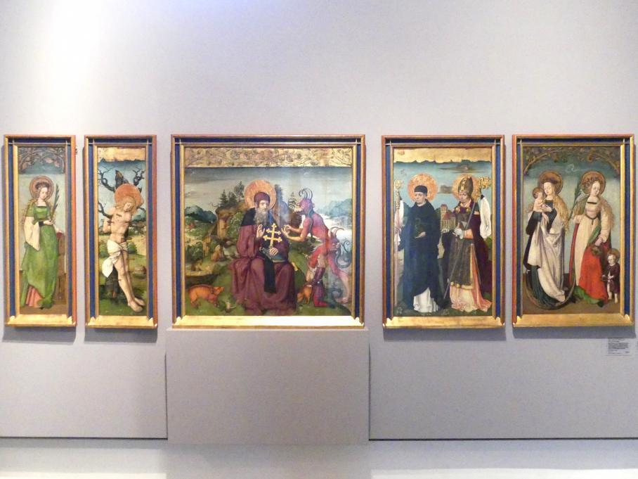 Zürcher Veilchenmeister: Antonius-Retabel, um 1505 - 1510