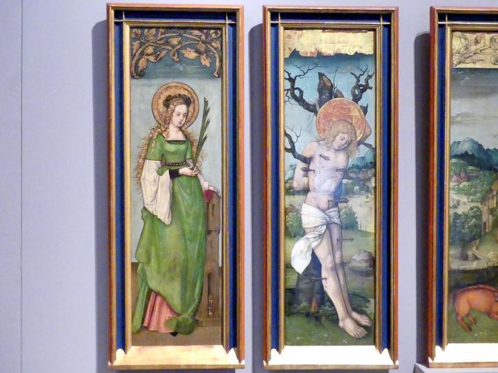 Zürcher Veilchenmeister: Antonius-Retabel, um 1505 - 1510, Bild 2/5