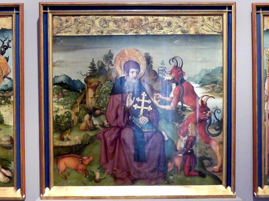 Zürcher Veilchenmeister: Antonius-Retabel, um 1505 - 1510, Bild 3/5