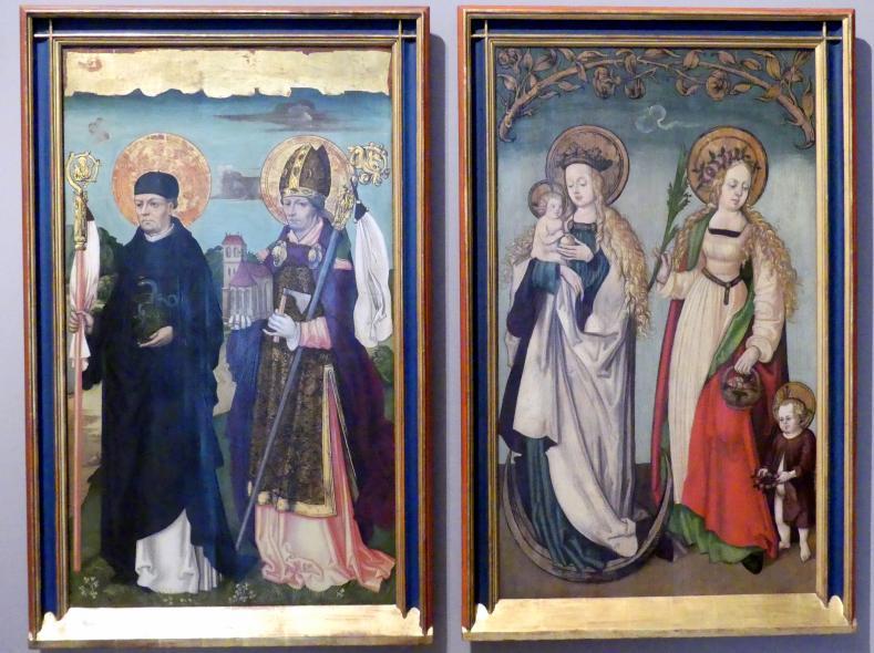Zürcher Veilchenmeister: Antonius-Retabel, um 1505 - 1510, Bild 4/5