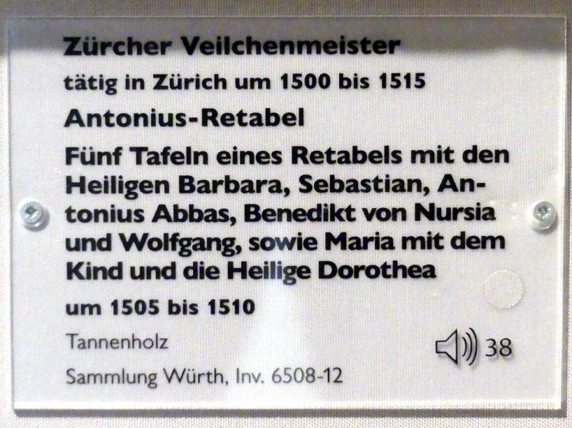 Zürcher Veilchenmeister: Antonius-Retabel, um 1505 - 1510, Bild 5/5