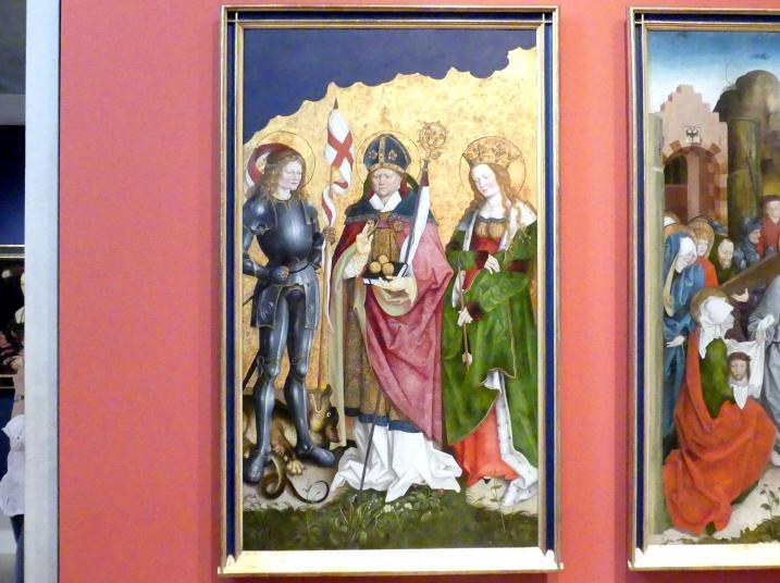 Hans Strüb: Die Heiligen Georg, Nikolaus und Ursula, um 1512 - 1513