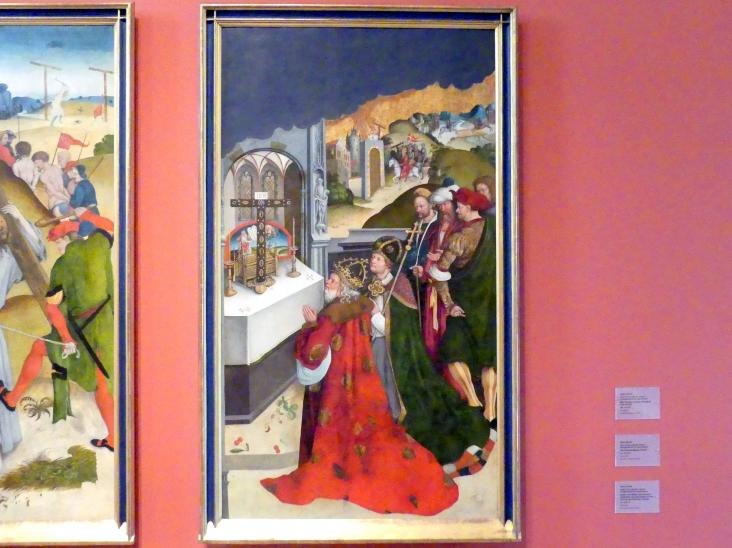 Hans Strüb: Kaiser Heraklius und Bischof Zacharias von Jerusalem in Verehrung des Kreuzes Christi, Um 1512 - 1513