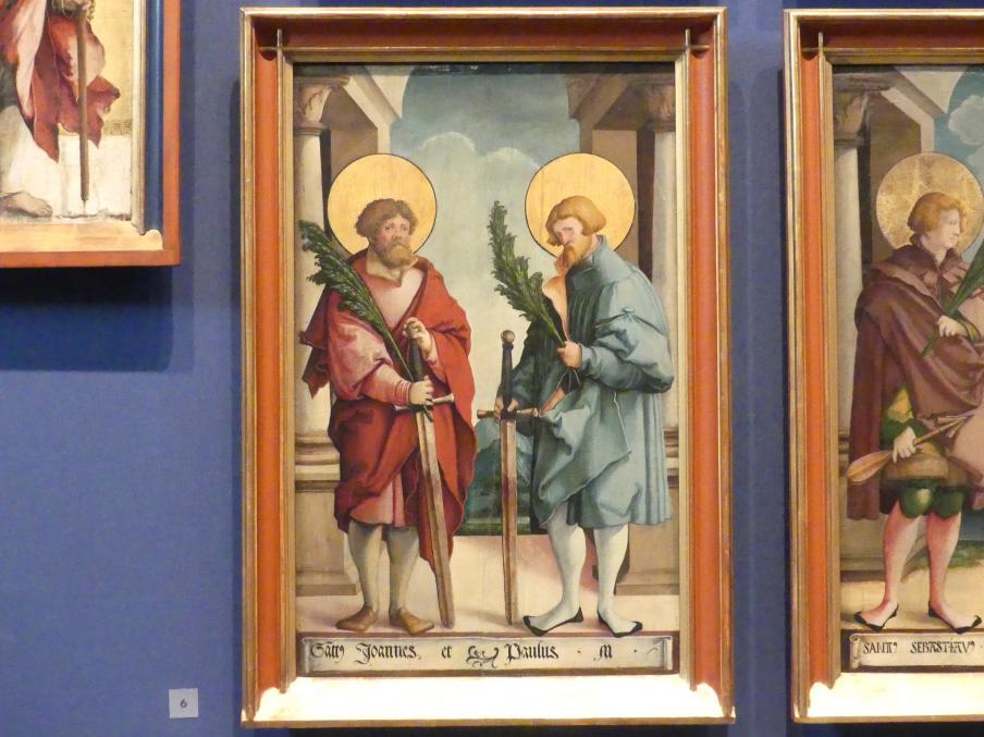 Meister von Meßkirch: Die heiligen Märtyrer Johannes und Paulus, 1535 - 1540
