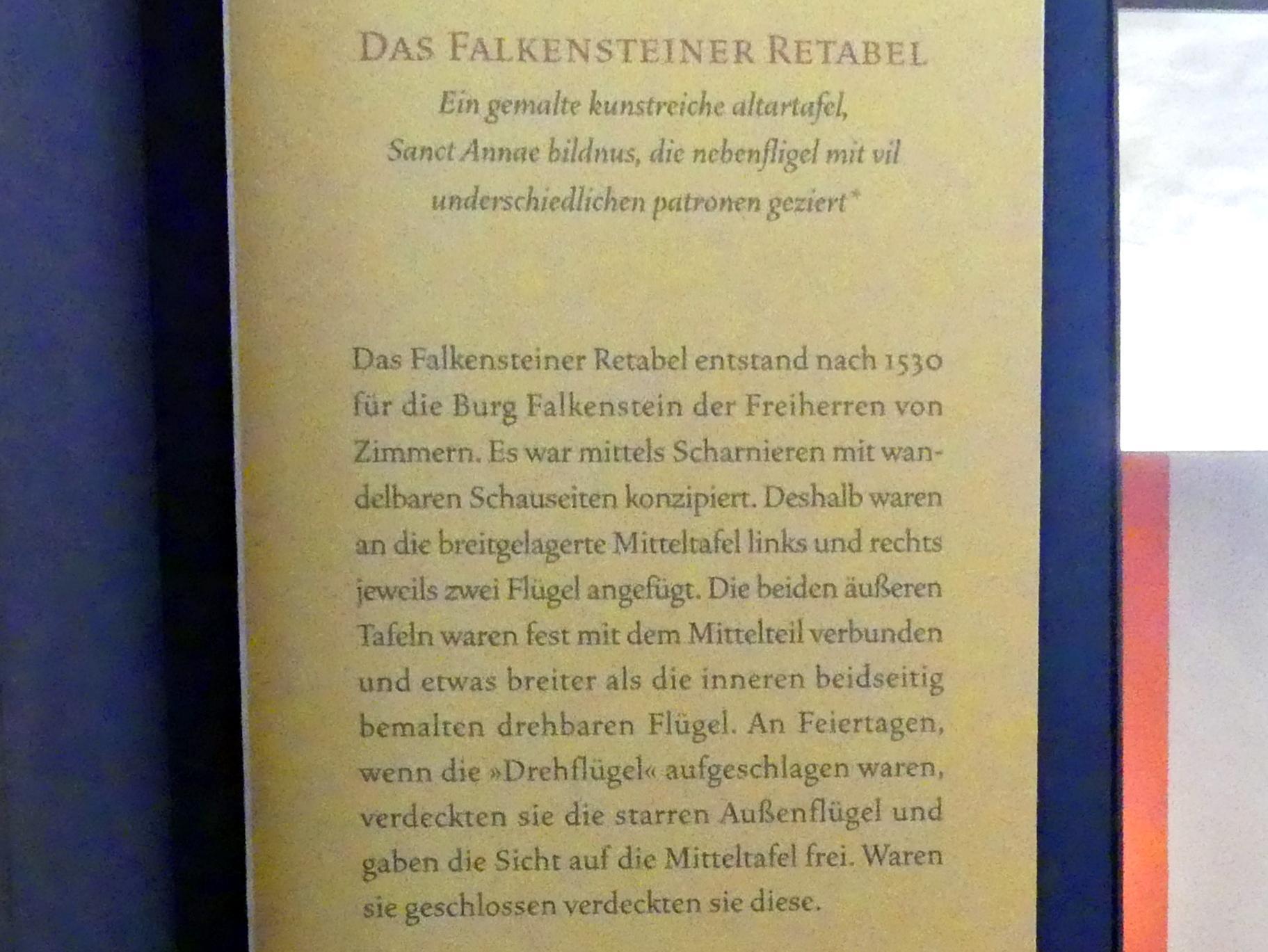 Meister von Meßkirch: Falkensteiner Retabel, nach 1530, Bild 10/11