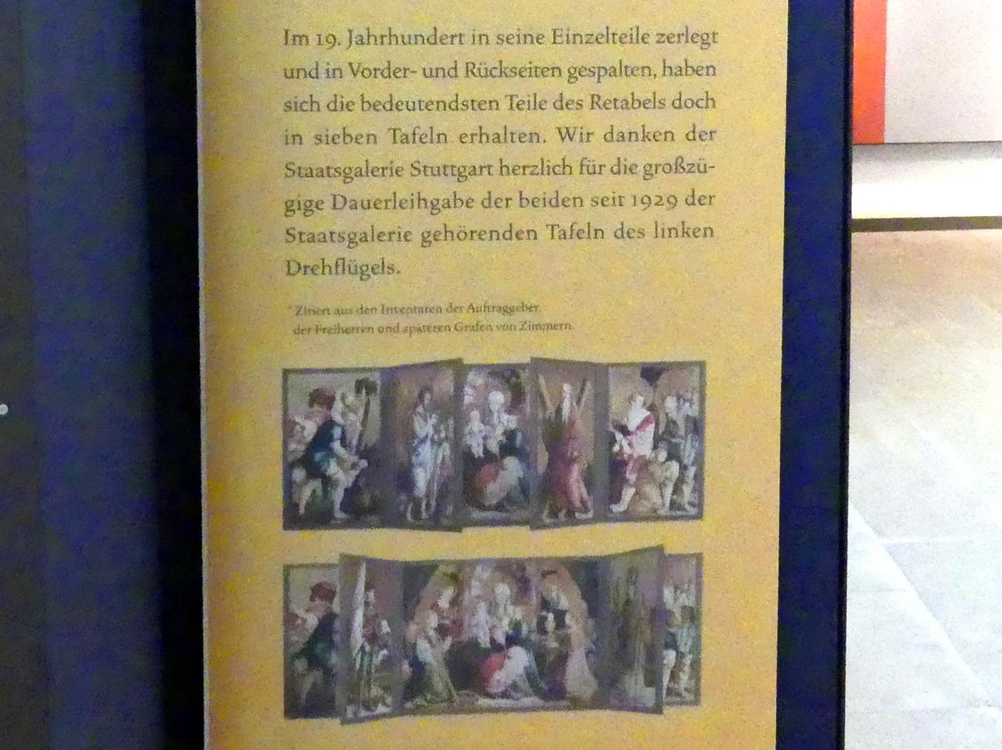 Meister von Meßkirch: Falkensteiner Retabel, nach 1530, Bild 11/11