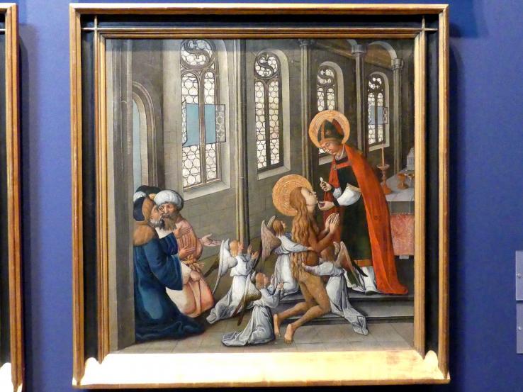 Seeschwäbischer Meister: Die letzte Kommunion Maria Magdalenas in der Kathedrale von Aix-en-Provence, um 1500