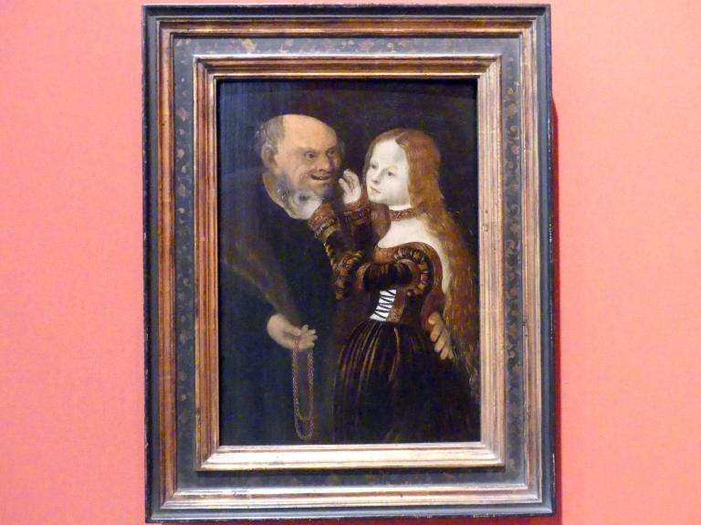 Lucas Cranach der Ältere (Umkreis): Ungleiches Paar, 2. Hälfte 16. Jhd.
