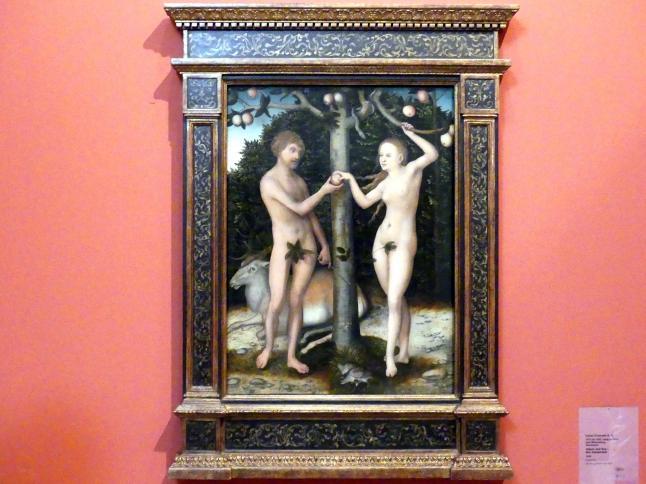 Lucas Cranach der Ältere (Werkstatt): Adam und Eva - Der Sündenfall, 1546