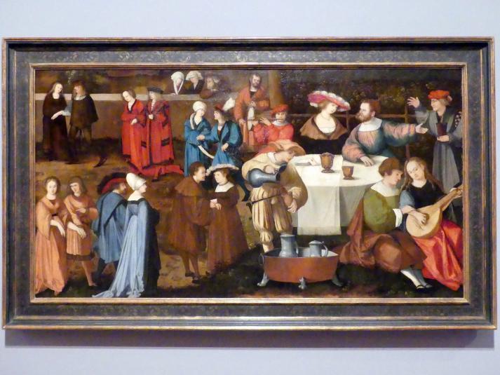 Hans Schäufelein: Das Gastmahl des Herodes, Um 1525