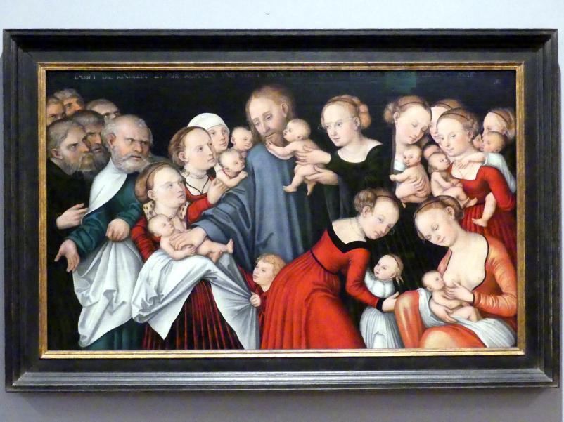 Lucas Cranach der Ältere: Christus segnet die Kinder, 1546