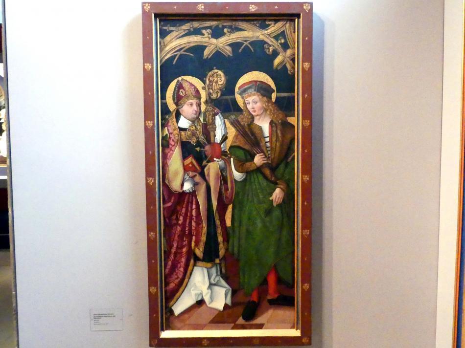Die Heiligen Augustinus und Sebastian, um 1510