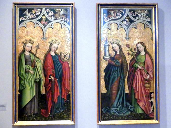 Peter Murer: Die Heiligen Ursula, Katharina von Alexandrien, Barbara und Dorothea, um 1480