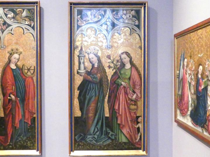 Peter Murer: Die Heiligen Ursula, Katharina von Alexandrien, Barbara und Dorothea, um 1480, Bild 2/4