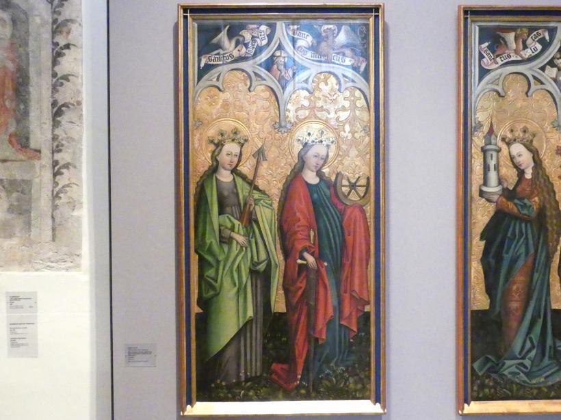 Peter Murer: Die Heiligen Ursula, Katharina von Alexandrien, Barbara und Dorothea, um 1480, Bild 3/4